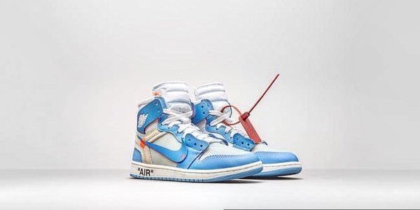 Off-White×NIKE AIR JORDAN 1×OFF-WHITE POWDER BLUE
